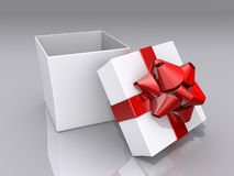 Öffnen Sie Geschenk-Kasten Lizenzfreie Stockfotos