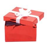 Öffnen Sie Geschenkkasten Stockfoto