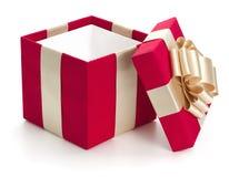 Öffnen Sie Geschenkkasten. Lizenzfreie Stockbilder