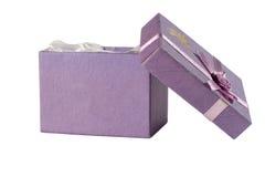 Öffnen Sie Geschenkkasten Stockbild
