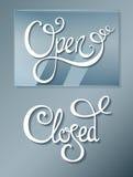 Öffnen Sie geschlossenes auf Glasvorstand Lizenzfreie Stockbilder