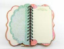 Öffnen Sie gewundenes Notizbuch Stockbilder
