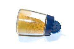 Öffnen Sie Glas mit Gewürzen. lizenzfreies stockfoto