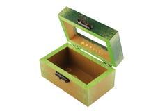 Öffnen Sie Grün gemalten Schmucksachekasten Lizenzfreie Stockbilder
