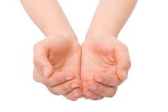 Öffnen Sie Hände Stockfotos