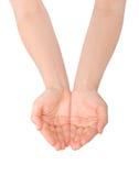 Öffnen Sie Hände Lizenzfreies Stockbild