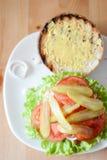 Öffnen Sie Hamburger Stockfoto