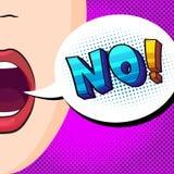 Öffnen Sie hellen Mund Stockfoto