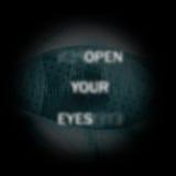 Öffnen Sie Ihren Augenbegriffshintergrund stock abbildung