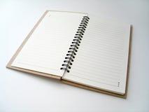 Öffnen Sie Journal lizenzfreie stockbilder