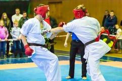 Öffnen Sie Karateturnier kiokusinkaj, Stockbilder