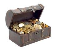 Öffnen Sie Kasten mit Geld stockfotos