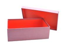 Öffnen Sie leeren Kasten lizenzfreies stockbild