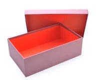 Öffnen Sie leeren Kasten stockbild