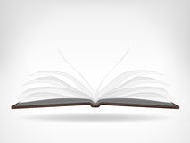 Öffnen Sie leeren lokalisierten Gegenstand der Seitenansicht des Buches Lizenzfreies Stockfoto
