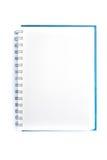 Öffnen Sie leeres Anmerkungsbuch Stockfotos