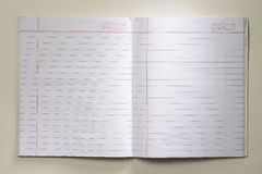 Öffnen Sie leeres Notizbuch Lizenzfreie Stockfotografie