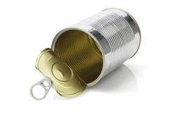 Öffnen Sie leeres Tin Can Stockfotos