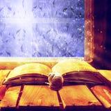 Öffnen Sie Magieschnecke des alten Buches Lizenzfreie Stockfotos