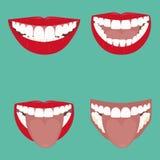 Öffnen Sie Mund-Vektor Stockfotos
