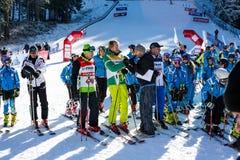 Öffnen Sie neue Skijahreszeit 2015-2016 in Bansko, Bulgarien Lizenzfreies Stockbild