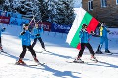 Öffnen Sie neue Skijahreszeit 2015-2016 in Bansko, Bulgarien Lizenzfreie Stockfotografie