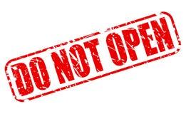 Öffnen Sie nicht roten Stempeltext Lizenzfreies Stockfoto