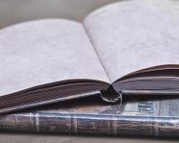 Öffnen Sie Notizbuch Stockfoto
