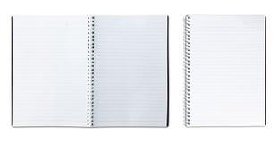 Öffnen Sie Notizbuch lizenzfreie stockbilder