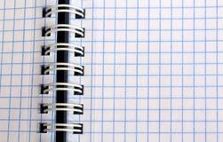 öffnen Sie Notizbuch in einem Käfig für die Aufschrift lizenzfreie stockfotos
