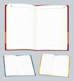 Öffnen Sie Notizbuch (Vektor) Stockfoto