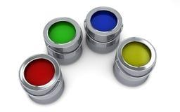 Öffnen Sie Paintcans Lizenzfreies Stockbild