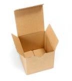 Öffnen Sie Pappleeren Kasten Lizenzfreie Stockbilder