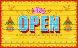 Öffnen Sie Plakat lizenzfreie abbildung