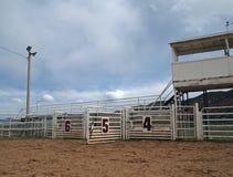 Öffnen Sie Rodeo-Gatter stockfotos