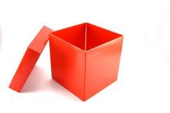 Öffnen Sie roten Kasten Stockbild