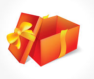 Öffnen Sie rotes Geschenk Lizenzfreie Stockbilder