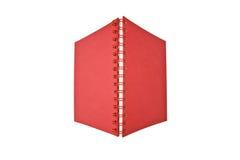 Öffnen Sie rotes Notizbuch stockfoto