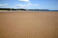Öffnen Sie Sandy Beach, Oxwich-Bucht, Wales Stockfotografie