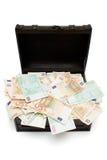 Öffnen Sie Schatz-Kasten lizenzfreies stockfoto