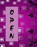 Öffnen Sie Schild Lizenzfreies Stockfoto