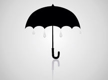 Öffnen Sie schwarzen Regenschirm Lizenzfreie Stockfotografie