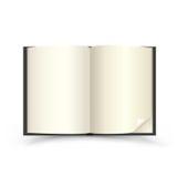 Öffnen Sie schwarzes Buch Stockfotos