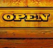 Öffnen Sie sich für Geschäft Lizenzfreies Stockbild