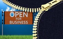 Öffnen Sie sich für Geschäft Lizenzfreie Stockfotos