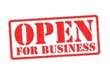 Öffnen Sie sich für Geschäft Lizenzfreie Stockbilder