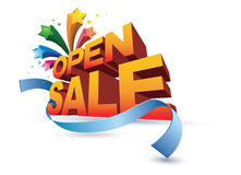 Öffnen Sie sich und Verkauf Stockbilder