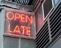 Öffnen Sie spätes Zeichen (1) Lizenzfreie Stockfotos