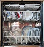 Öffnen Sie Spülmaschine Lizenzfreies Stockfoto