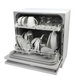 Öffnen Sie Spülmaschine, nachdem Sie sich gewaschen haben Stockbilder